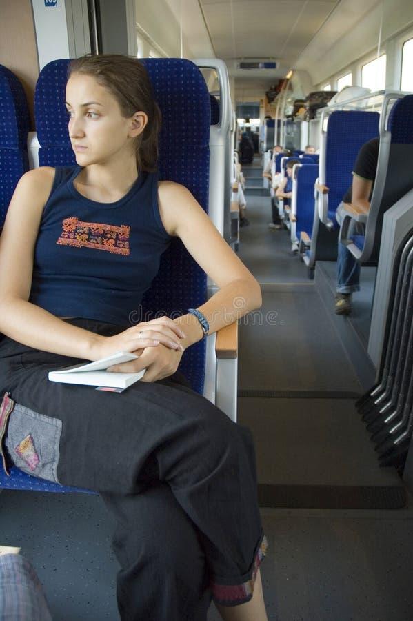 поезд 8 девушок стоковое фото rf