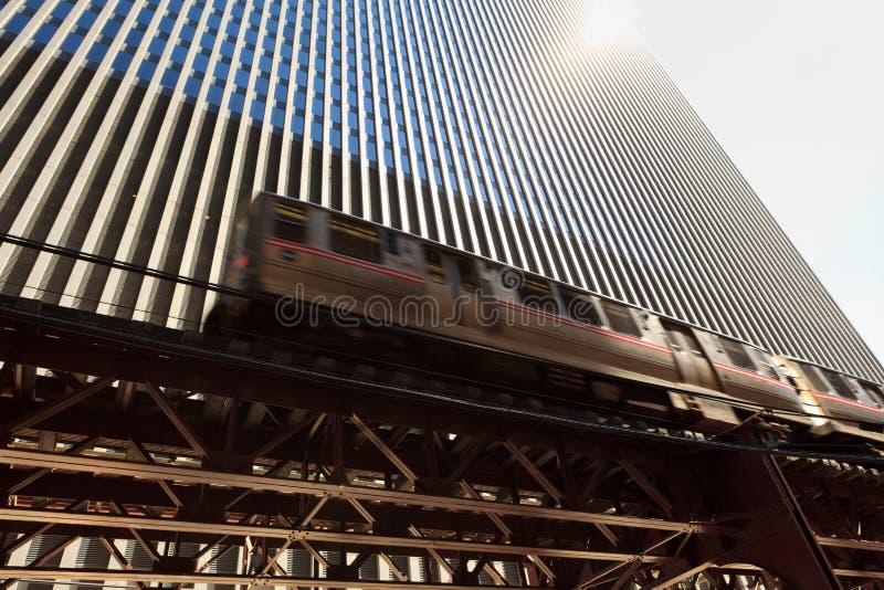 поезд chicago стоковая фотография rf