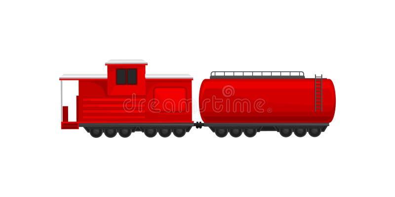 Поезд Firefighting, иллюстрация вектора корабля чрезвычайного обслуживани на белой предпосылке бесплатная иллюстрация