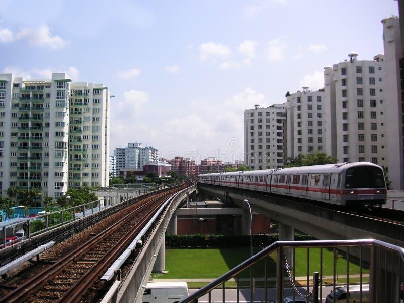 поезд singapore стоковое изображение