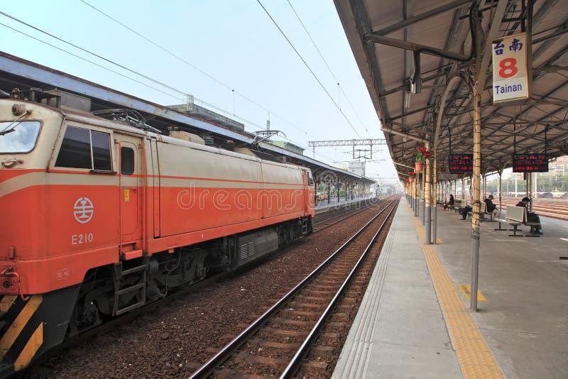 Поезд, Tainan.Taiwan стоковое фото