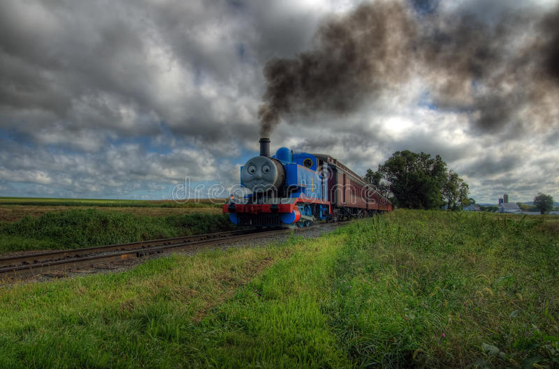 поезд thomas бака двигателя стоковые фото