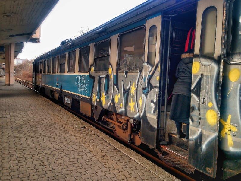 Поезда в Сербии стоковое изображение rf