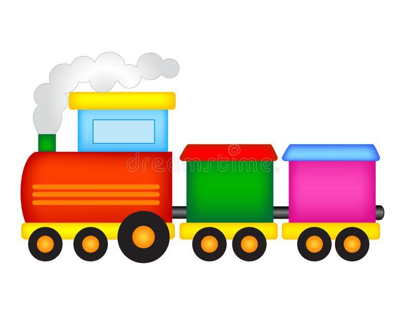 поезд игрушки певтера пем иллюстрация вектора