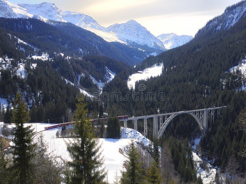 Поезд и мост стоковые фото
