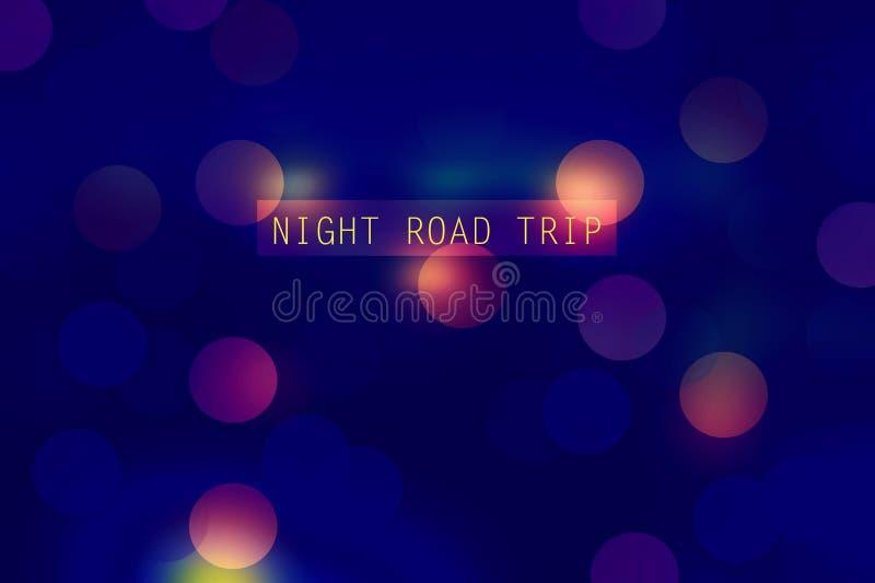 Поездка ночи иллюстрация вектора