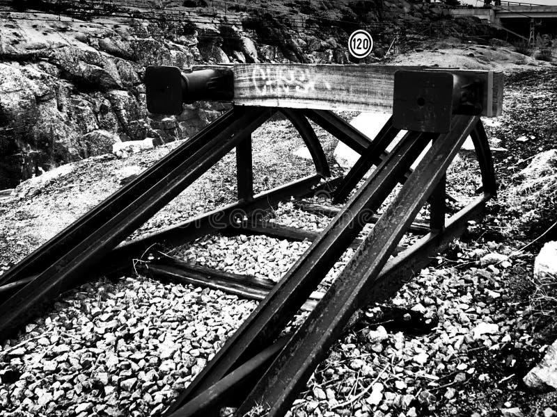 Поезд конца стоковое фото