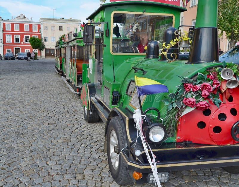 Поезд круиза туристский Город Retz стоковые фотографии rf
