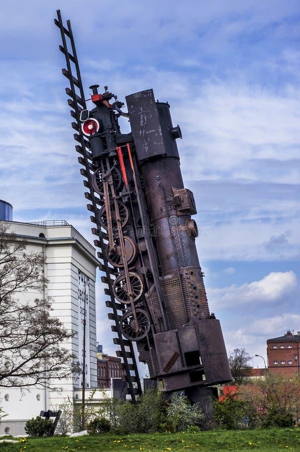 Поезд к раю Wroclaw Польше стоковое фото rf