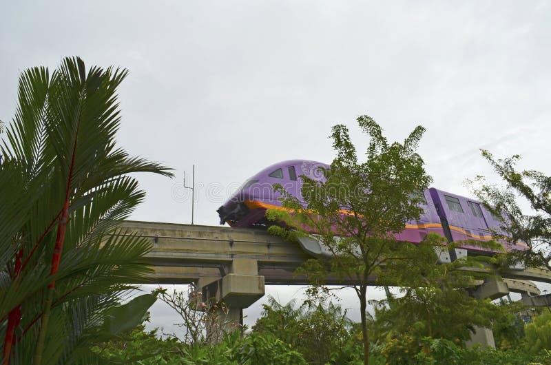 Поезд монорельса стоковое изображение rf