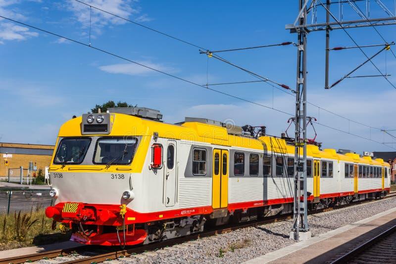 Поезд на станции в Karlskrona стоковые изображения