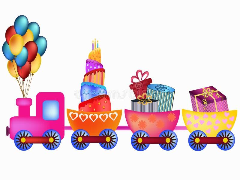 поезд дня рождения счастливый бесплатная иллюстрация