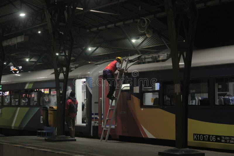 Поезд обслуживания стоковые изображения