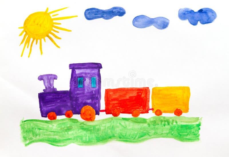 Поезд потехи иллюстрация штока