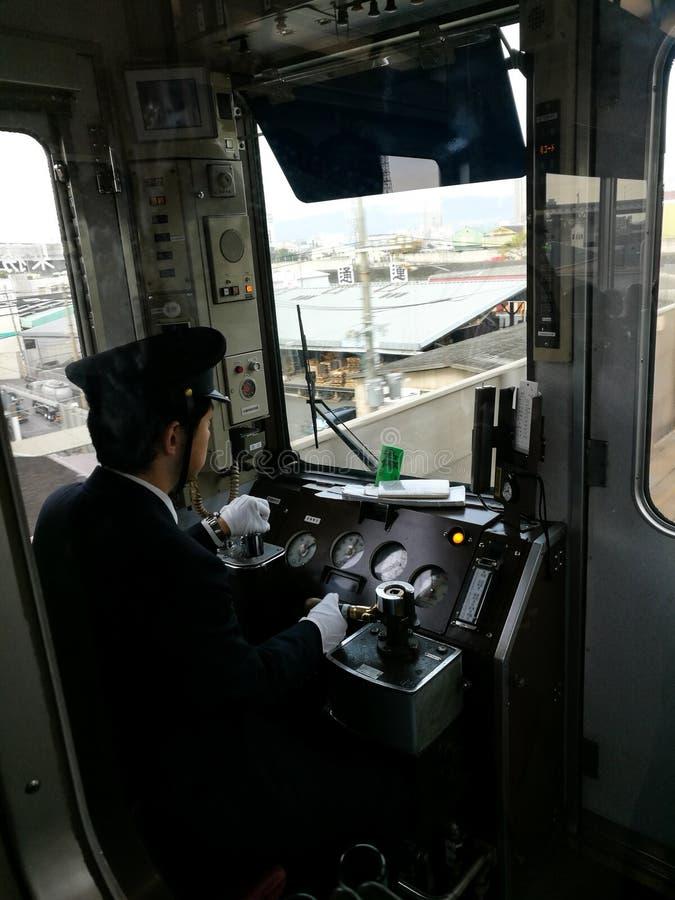 поезд привода регулятора к Himeji стоковое изображение rf