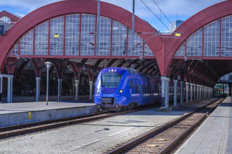 поезд станции европы Испании города blanes стоковое фото