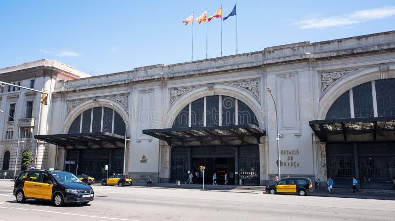 поезд станции franca barcelona стоковые фотографии rf