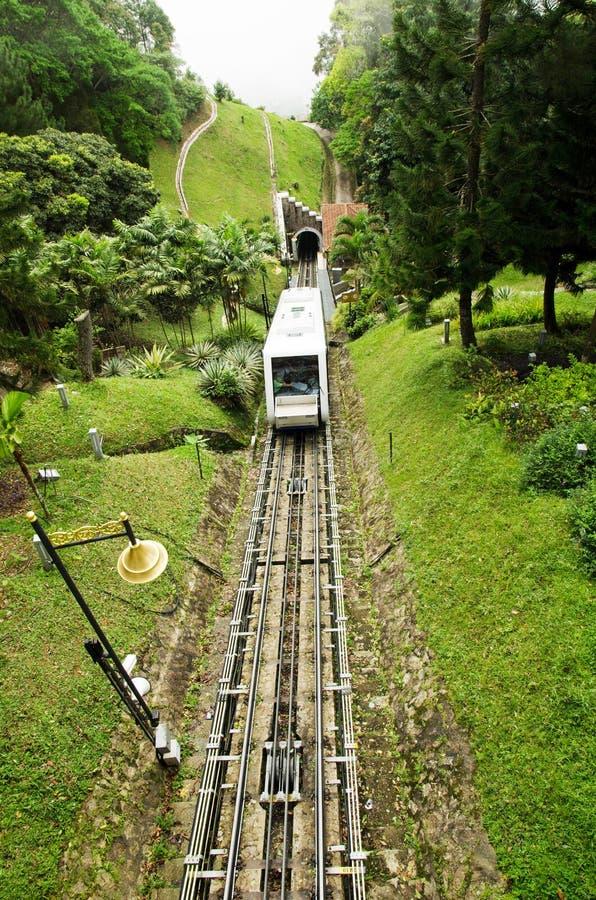 Поезд холма Penang, самый иконический переход на холме Penang, Малайзии стоковое фото
