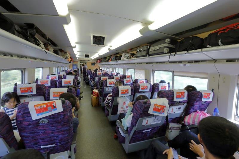 Поезд эму Китая высокоскоростной внутрь стоковая фотография