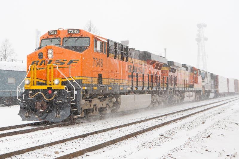 Поезд BNSF стоковые изображения rf