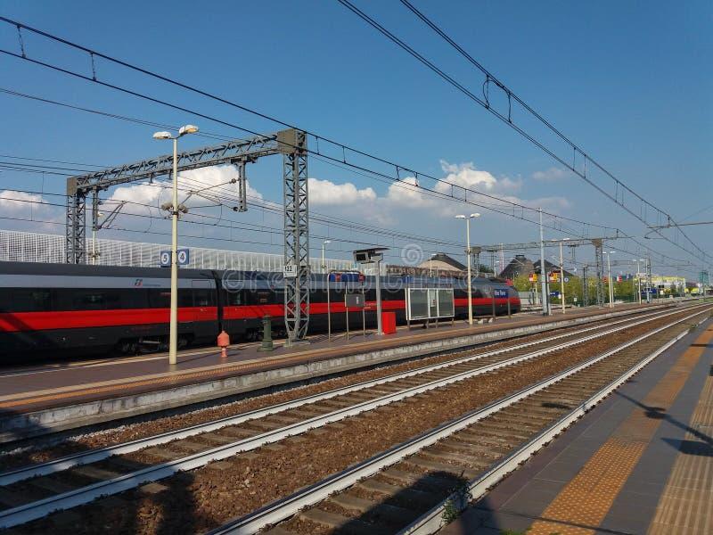 Поезд Frecciarossa междугородный стоковое фото