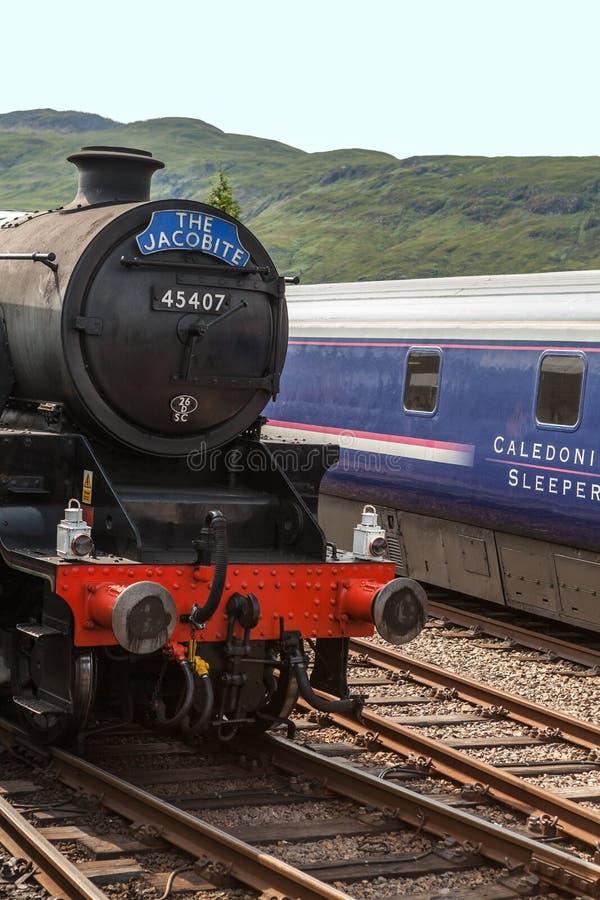 Поезд Jacobite стоковые фотографии rf