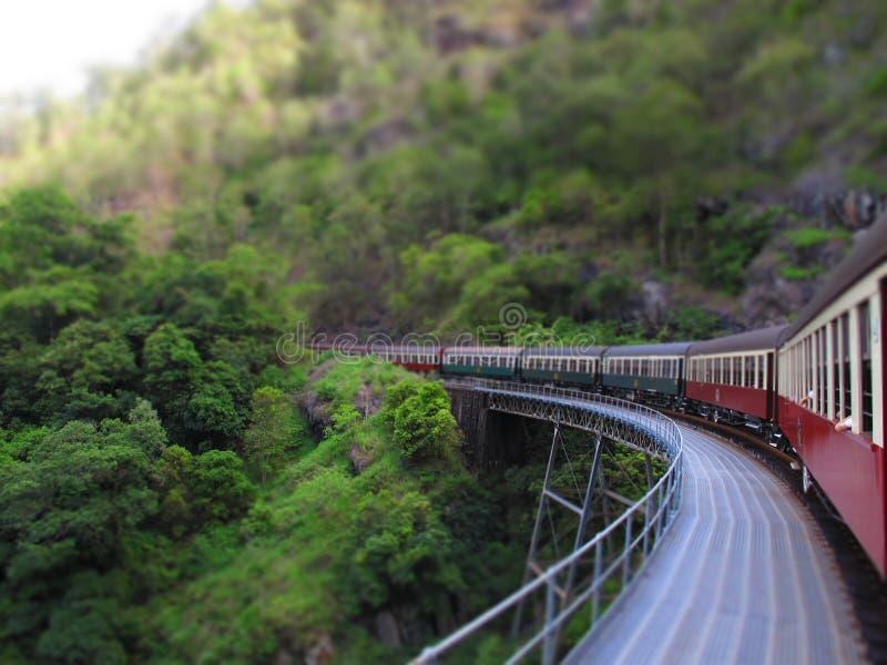 Поезд Kuranda сценарный стоковое изображение rf