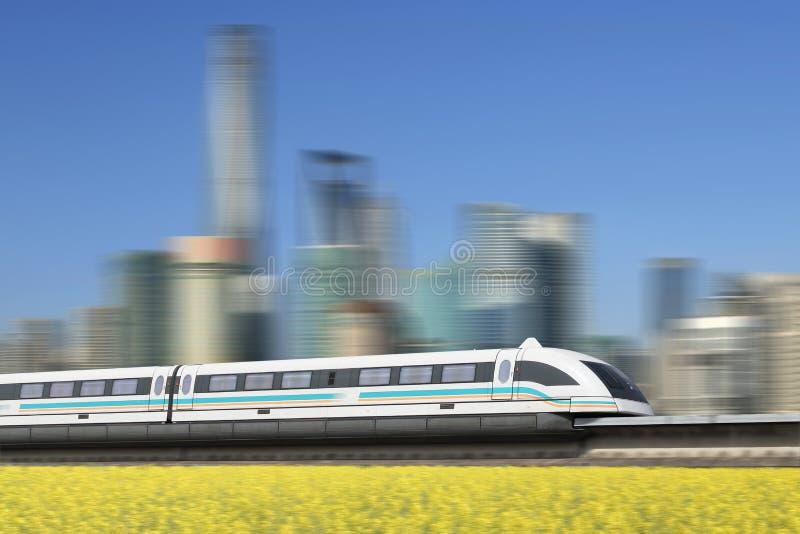 Поезд Maglev стоковое изображение rf
