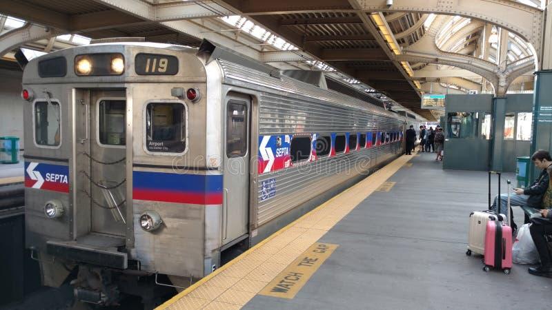 Поезд Philly стоковые изображения rf