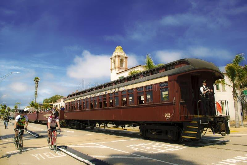 Поезд Santa Cruz стоковые изображения rf