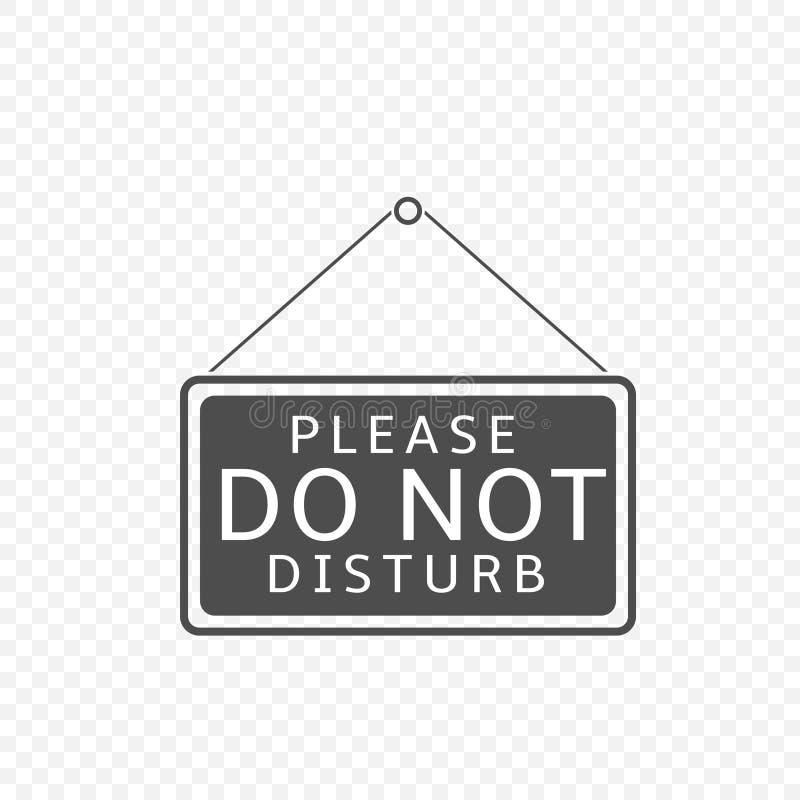 Пожалуйста не нарушьте знак иллюстрация вектора
