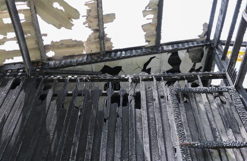 Пожарище изображения детали домашнего огня стоковая фотография rf