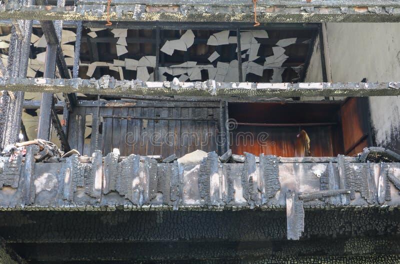 Пожарище изображения детали домашнего огня стоковое фото rf