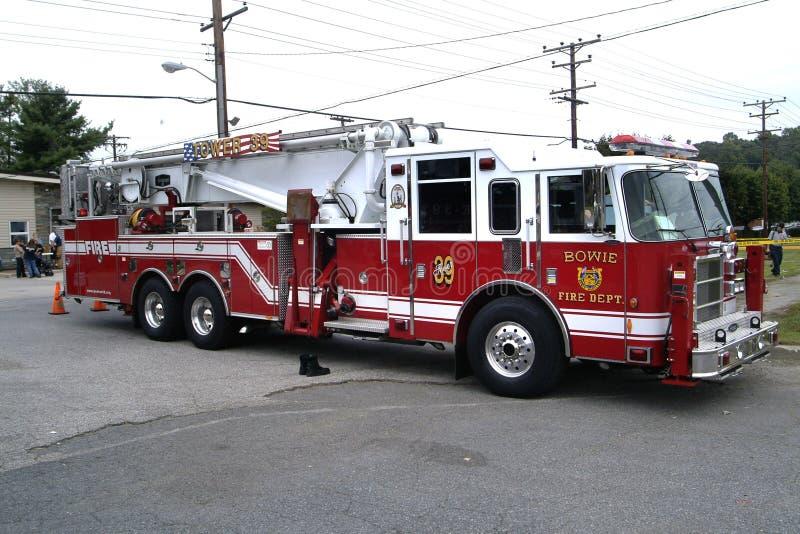 Пожарная машина блока башни стоковая фотография