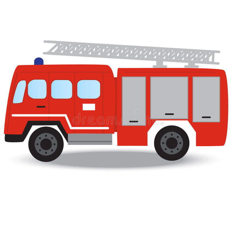 Пожарная машина пожарного непредвиденная красная стоковая фотография rf