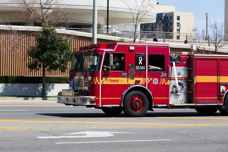 Пожарная машина Торонто стоковое изображение
