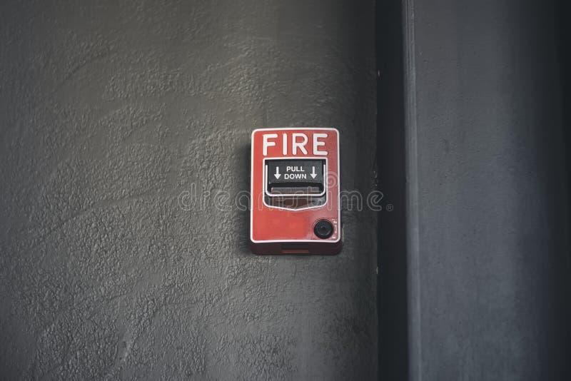 Пожарная сигнализация переключателя стоковая фотография