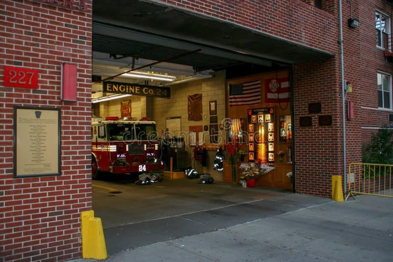 Пожарное депо Нью-Йорка на Манхэттене стоковые изображения rf
