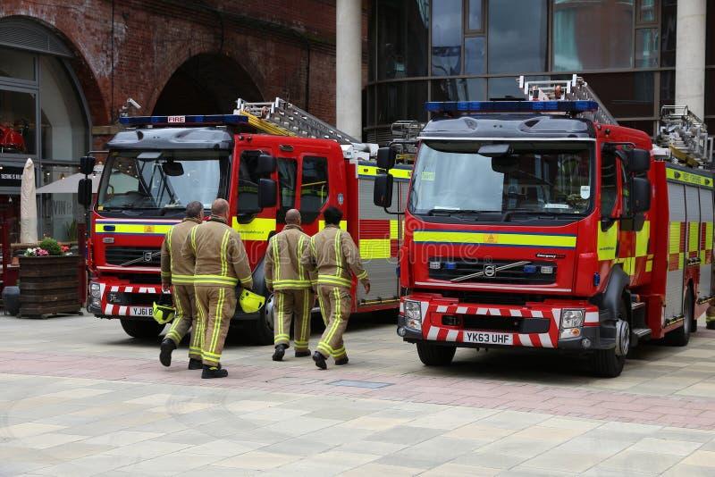 Пожарные в Великобритании стоковая фотография rf