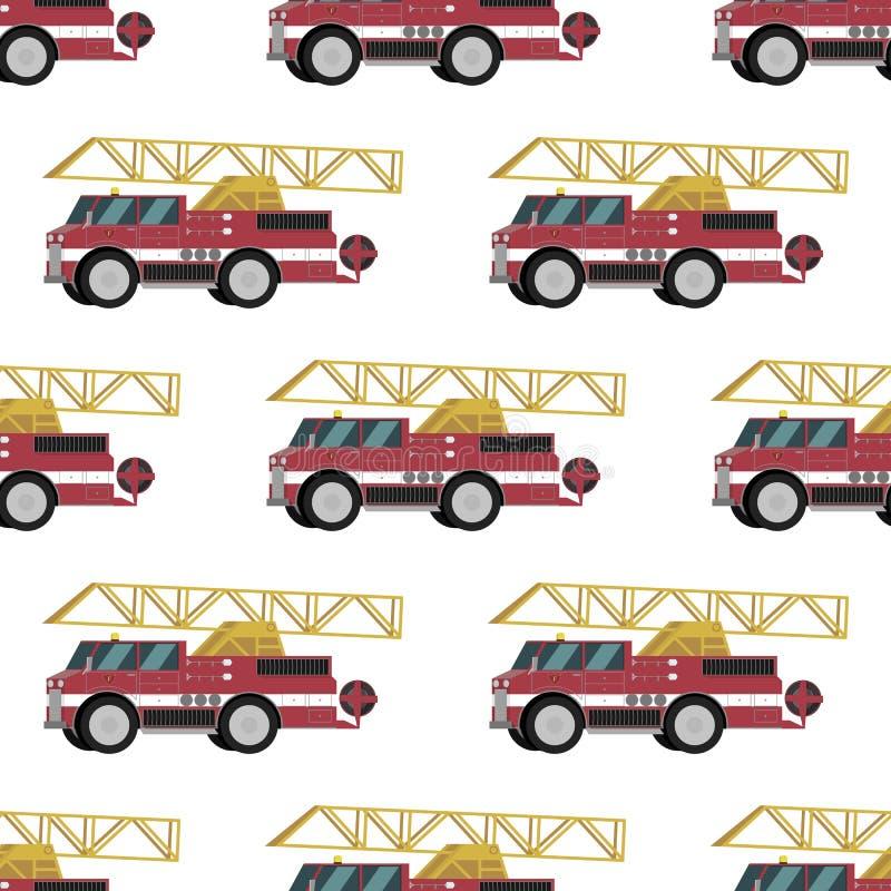 Пожарные машины групп картины изображения вектора красные бесплатная иллюстрация