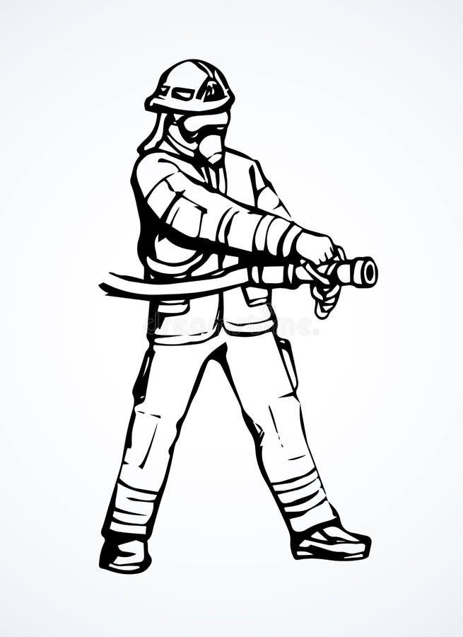 пожарный предпосылка рисуя флористический вектор травы иллюстрация вектора