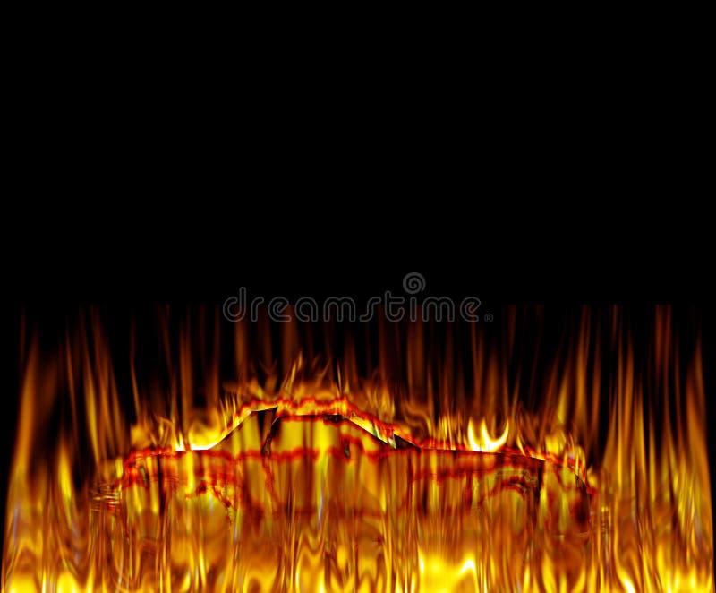 Download пожар автомобиля иллюстрация штока. иллюстрации насчитывающей художничества - 6851304