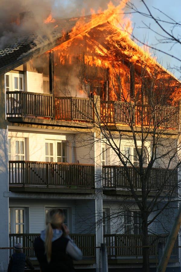 пожар бедствия стоковое фото