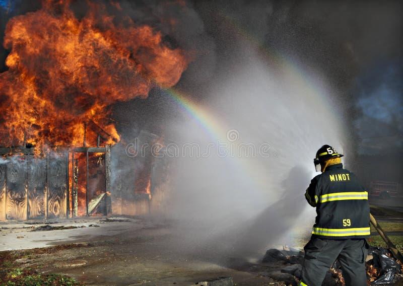 пожар бой стоковая фотография rf