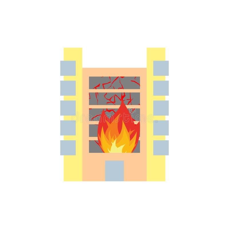 Пожар в здании Пламена от окон офиса Дом поджога Ожог f бесплатная иллюстрация