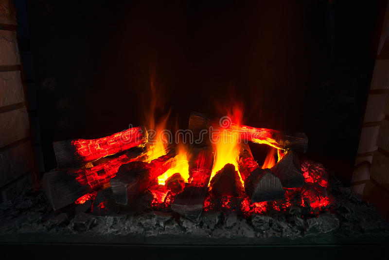 Пожар в камине стоковые изображения rf