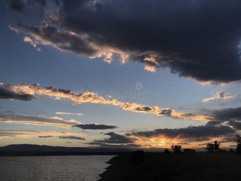 Пожар в небе стоковое изображение