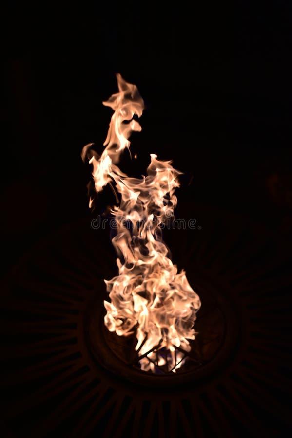 Пожар в темноте E стоковая фотография