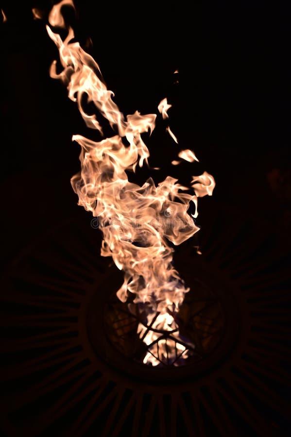 Пожар в темноте E стоковые фото
