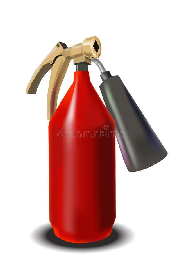 пожар гасителя иллюстрация штока
